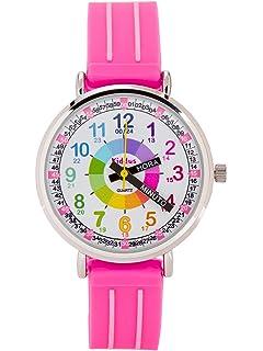 KIDDUS Reloj Infantil Niño Niña Aprender Hora Analógico Cuarzo Japonés. Time Teacher