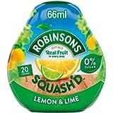 Robinsons Squash'd Lemon & Lime No Added Sugar 66ml (Pack of 4)
