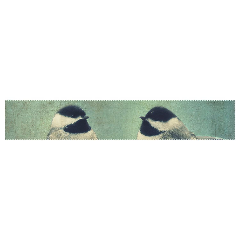 Kessインハウスrd1167atr01ロビンDickinson「Hello」鳥グリーンTypographyテーブルランナー   B01I4NSU1A