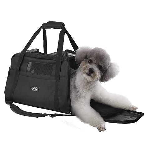 Nobleza - Bolso transportín de Viaje Plegable para Perros y Gatos. Tela Oxford, Talla L, (48 * 25 * 33) cm
