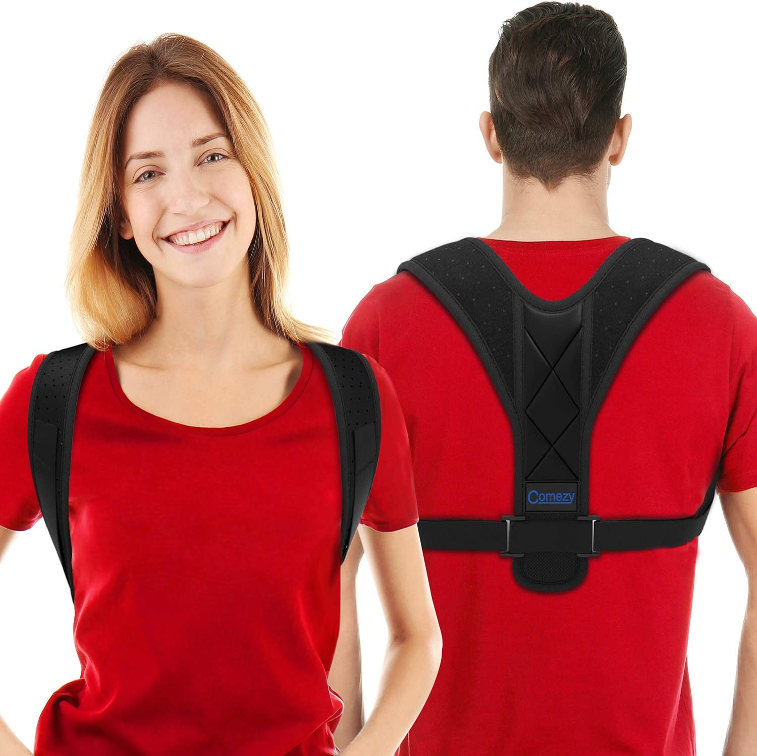 Posture Corrector For Men And Women, Upper Back Brace For Clavicle Support, Adjustable Back Straightener And Providing Pain Relief From Neck, Back and Shoulder (26-48 inches)
