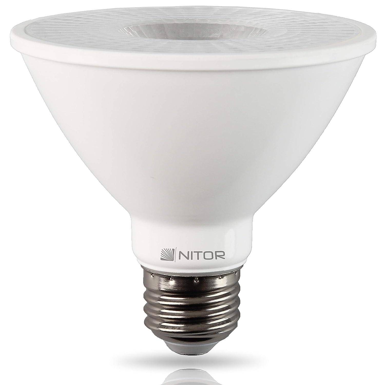 NITOR Lighting PAR30 LED Bulb, Short Neck, 12W (85W Equivalent), Dimmable, Warm White 2700K, Flood Lamp Bulbs, 850 Lumens, 35° Beam Angle, E26 Base, (4-Pack) 35° Beam Angle