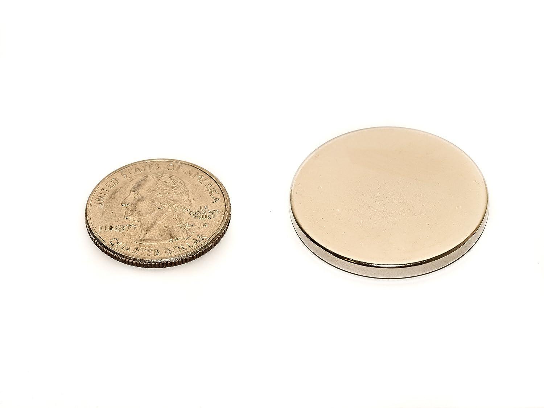 revitalizaire 1/8 pulgada de grosor N42 neodimio imanes de disco diámetro de 1,3 pulgadas Paquete De 10 Unidades. Potente NdFeB imanes de tierras raras con ...