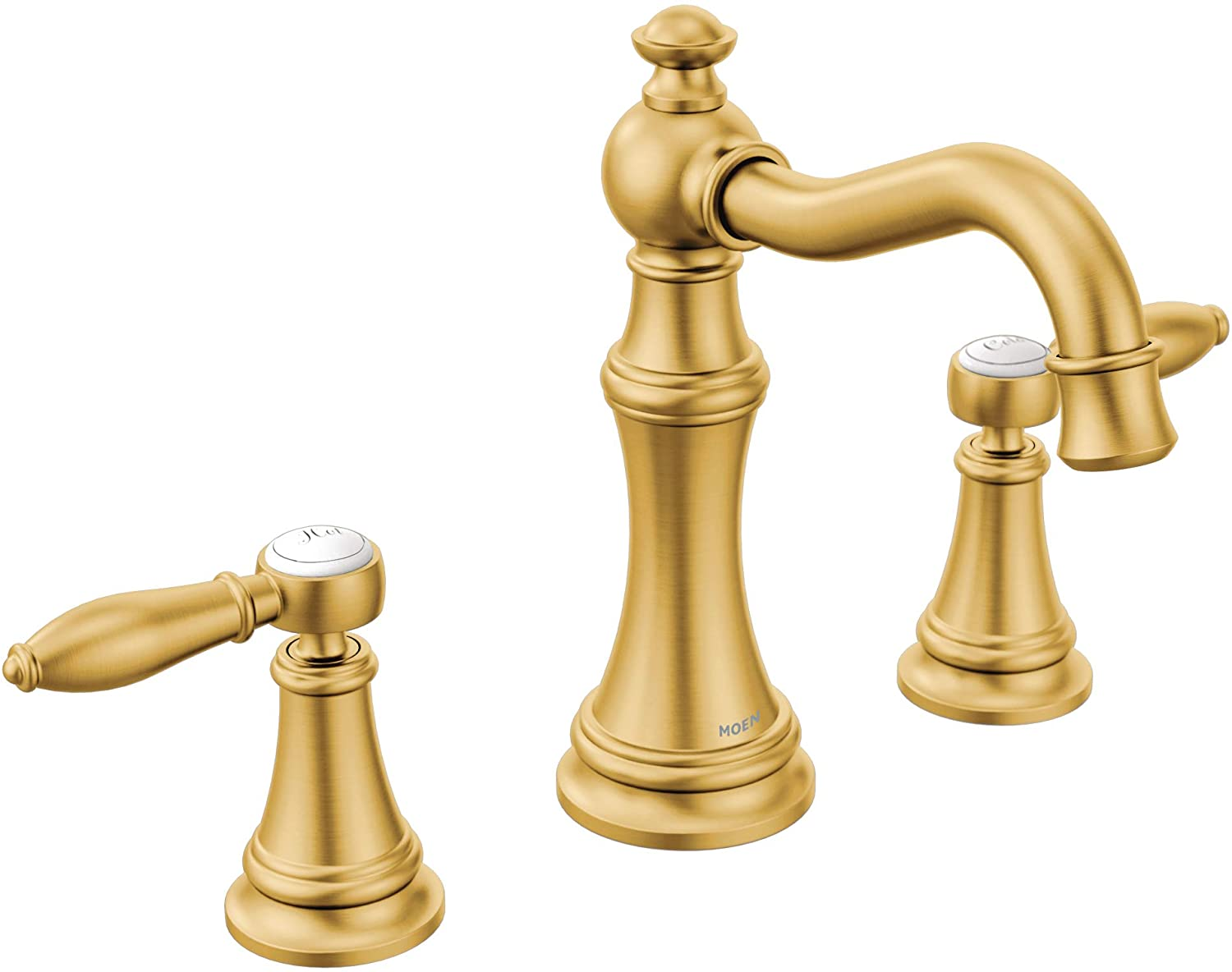 Moen Ts42108bg Weymouth Two Handle Lever Handle Bathroom Faucet Trim Kit Valve Required Brushed Gold Amazon Com