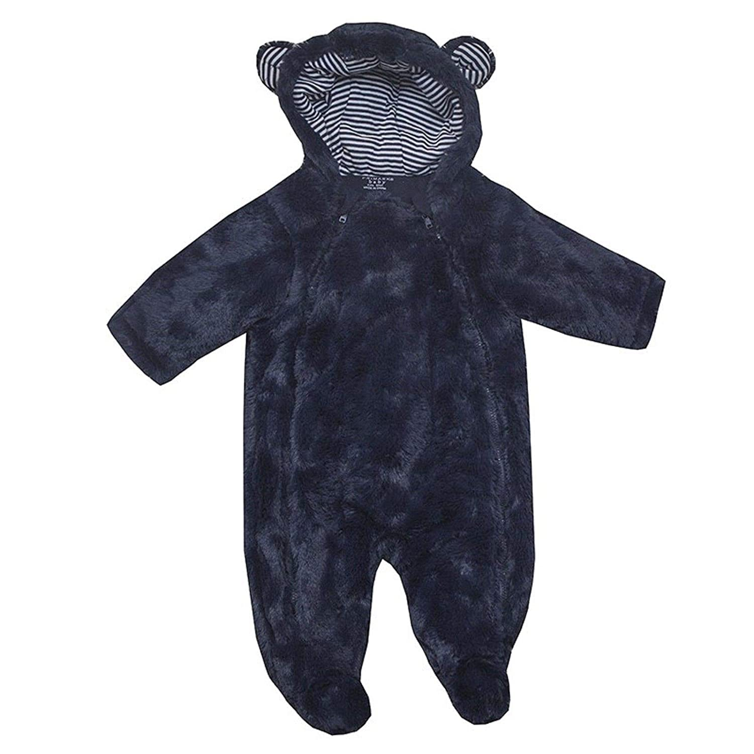 Baby Snowsuit Boys Girls EX UK Store Faux Fur Hooded Warm All in ONE 0-18M