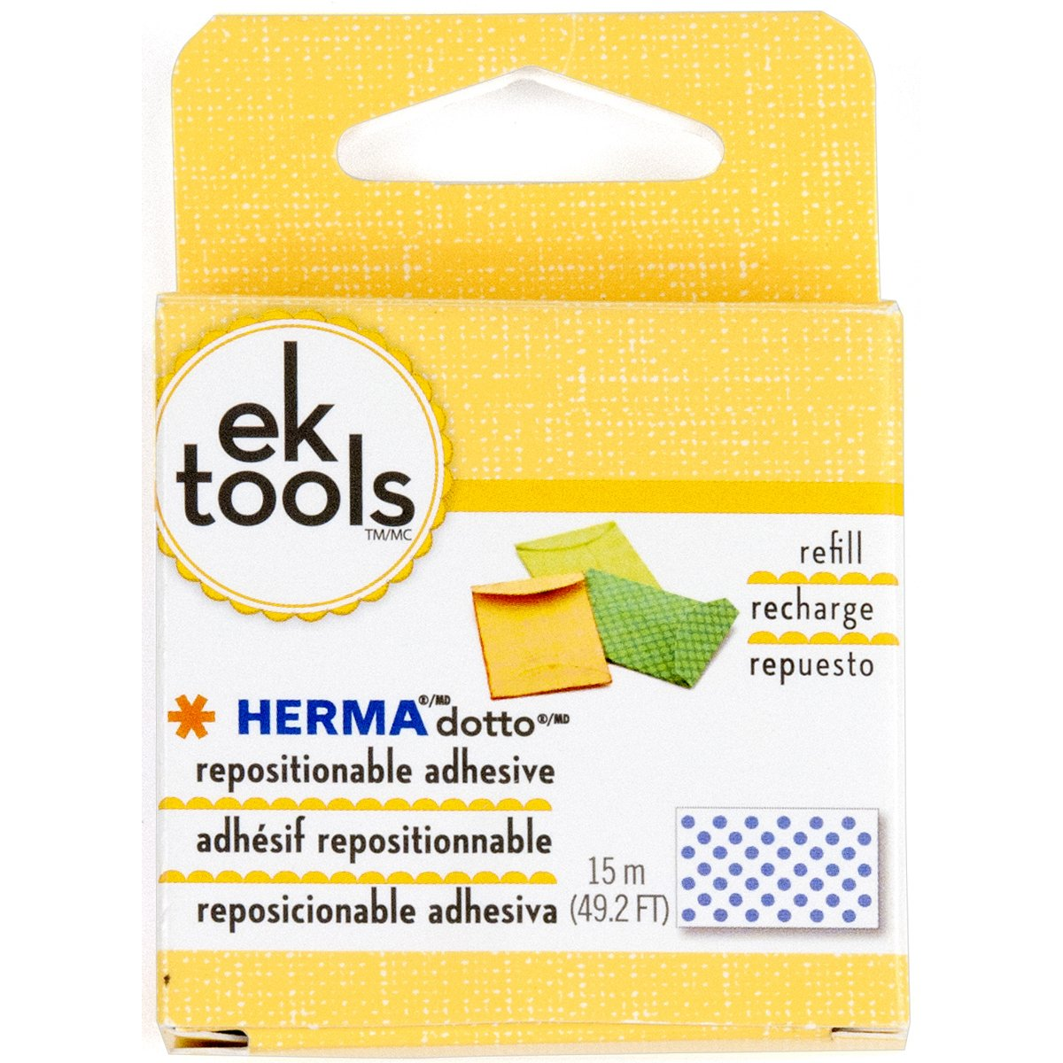 EK Tools Repuesto dispensador reposicionable adhesivo Her...