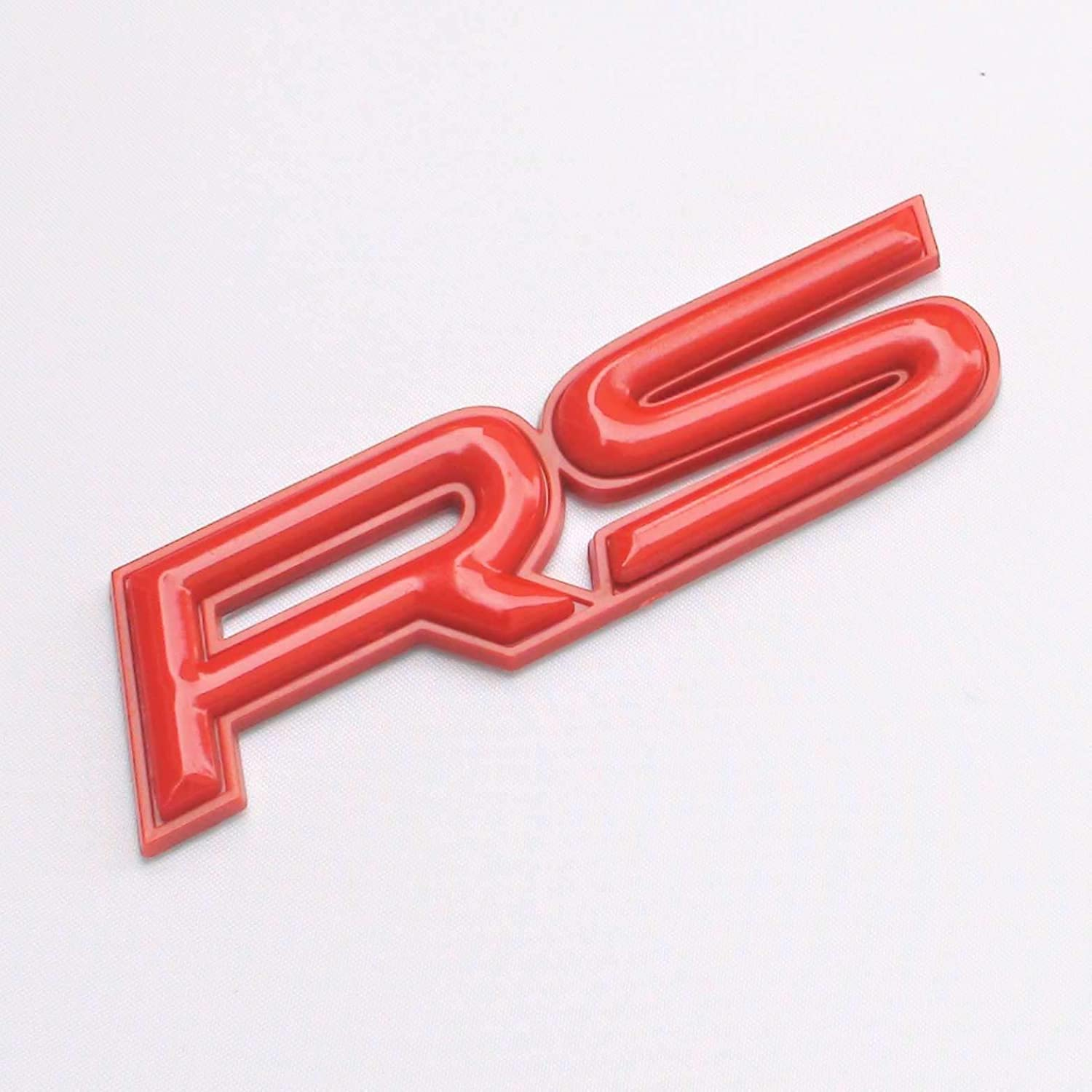 Rs Red 3D Car Badge Decal Emblem Logo Sign Trunk Side Auto Adhesive Abs TOTUMY 1 Piece