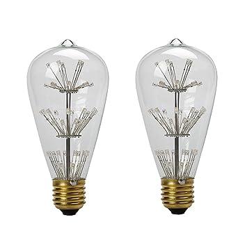 aufitker Vintage Edison Bombilla LED, bombilla LED, jaula de ardilla Filamento LED de luz
