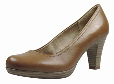 73383d728c3132 Tamaris TAMARIS, Escarpins femme - Marron (Antelope), 43 EU: Amazon ...
