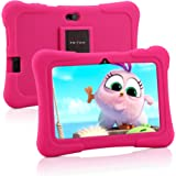 Pritom 7 inch kindertablet, Quad Core Android, 1 GB RAM + 16 GB ROM, WiFi, Bluetooth, dubbele camera, training…