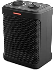 Pro Breeze 1500W Mini Ceramic Space Heater with 3 Operating Modes, Adjustable Thermostat, Overheat and Tip-Over Protection for Home, Office and Under Desk
