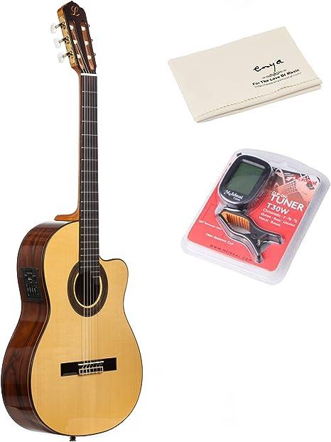Lavida l129s guitarra electroacústica (cuerdas de nailon guitarra ...