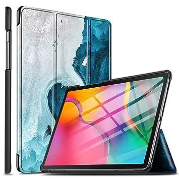 ELTD Funda Carcasa para Samsung Galaxy Tab A T510/T515 10.1 2019, Ultra Delgado Stand Función Smart Fundas Duras Cover Case para Samsung Galaxy Tab A ...