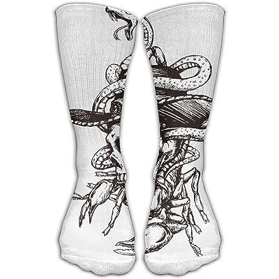 YUANSHAN Socks Pirate Skull Women & Men Socks Soccer Sock Sport Tube Stockings Length 11.8Inch