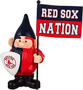 "Rico Industries, Inc. Red Sox 10"" Garden Gnome Flag Holder Outdoor Statue Decoration Baseball"