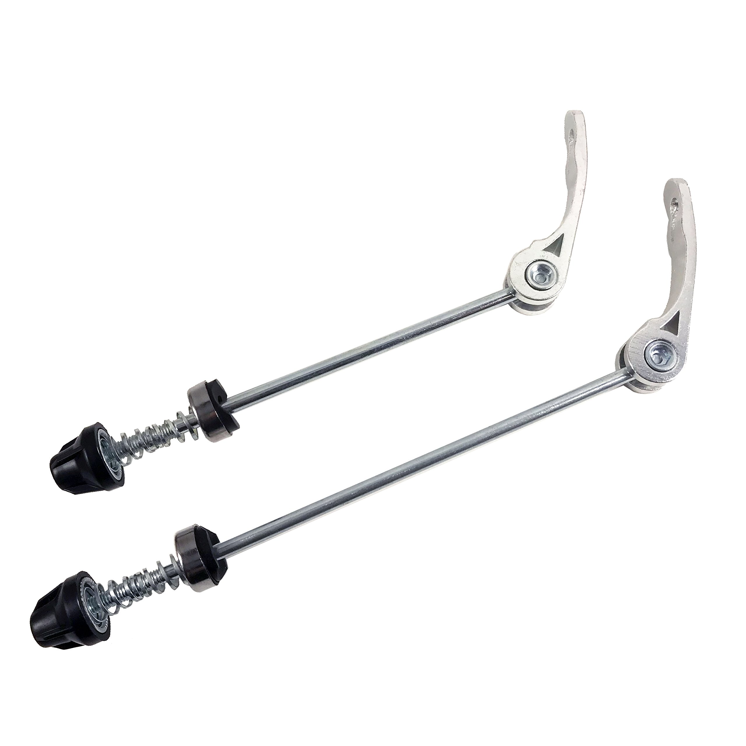 DEERU Road Mountain Bicycle MTB Wheel Hub Front and Rear Skewers Quick Release Clip Bolt Lever Axle QR 145/180 mm, a Pair