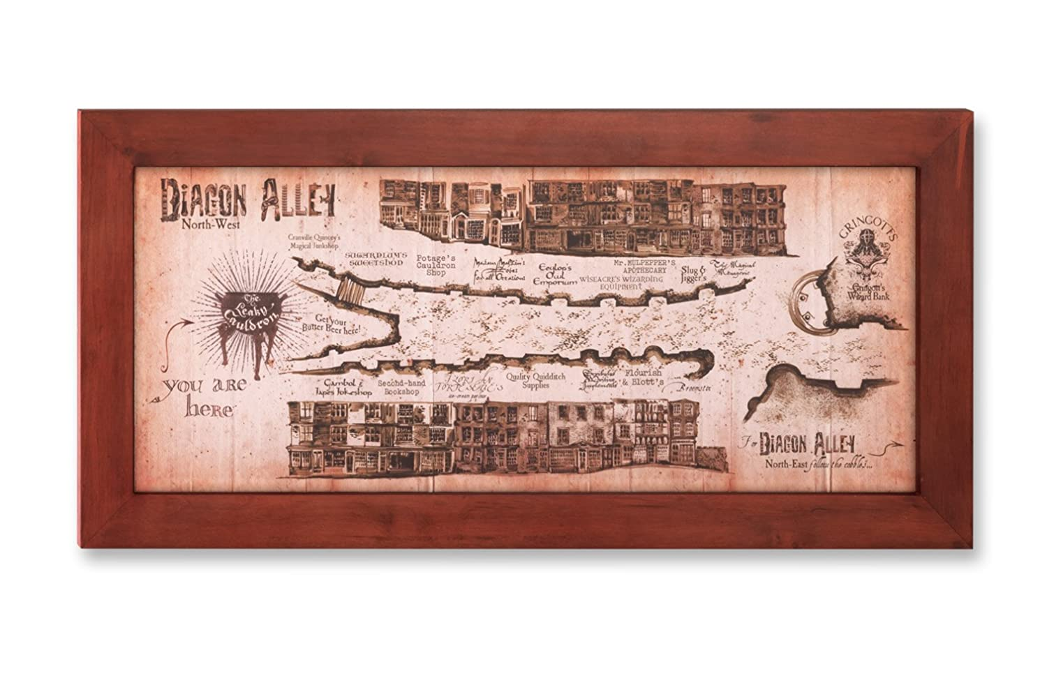 Buy Harry Potter Diagon Alley Map Online at Low Prices in ... on iowa county map, j.k. rowling map, ministry of magic map, wizard map, harry potter alley map, charing cross galloway street map, oklahoma tornado alley map, chamber of secrets map, hogwarts map, home map,