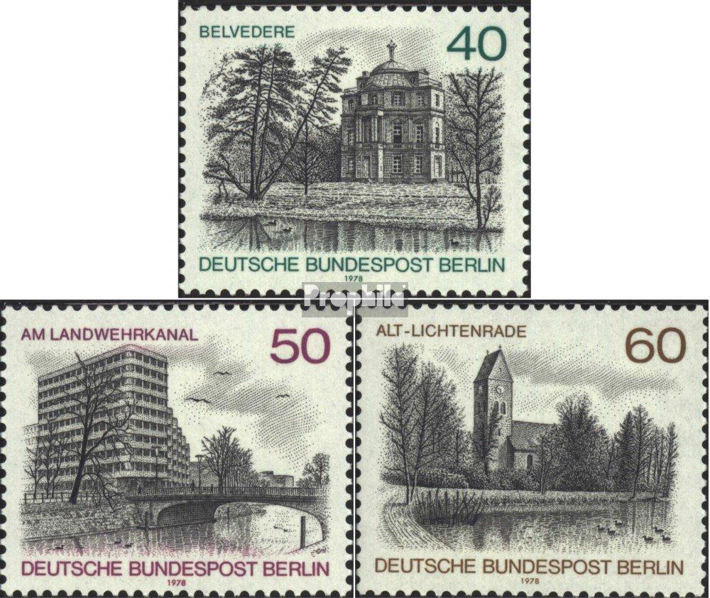 Timbres pour les collectionneurs 1978 Berlin-Vues compl/ète./édition 578-580 Berlin West