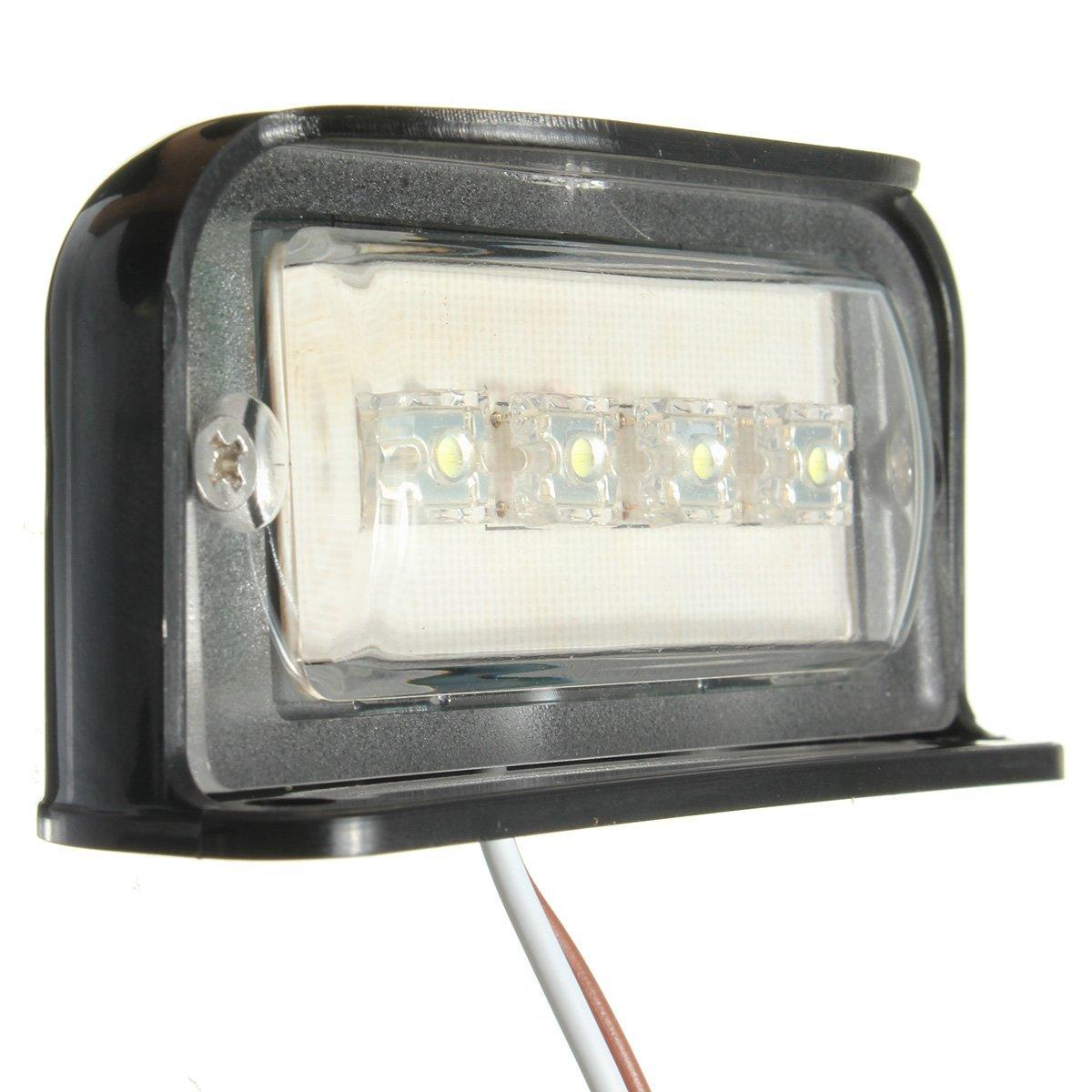 SOLMORE 4 LED Kennzeichenbeleuchtung Nummernschildbeleuchtung ...