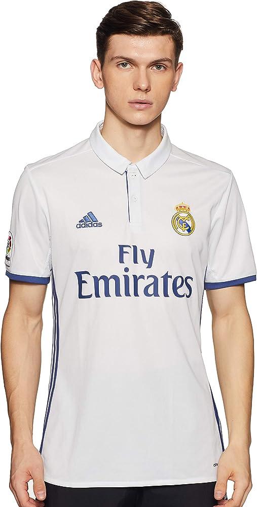 1ª Equipación Real Madrid CF 2016/2017 - Camiseta oficial para hombre adidas, color blanco, talla XS: Amazon.es: Ropa y accesorios