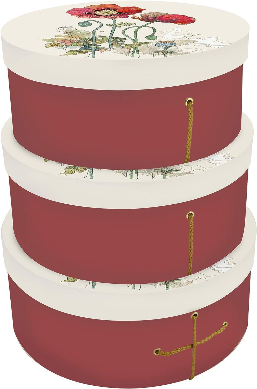 Bug Art Poppy - Juego de 3 cajas de regalo para sombrero: Amazon.es: Oficina y papelería