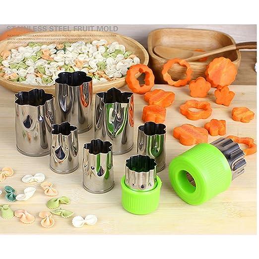 Amazon.com: DealMux vegetal cortador Shapes Set (8 peças) - Mini biscoito cortadores, cortadores de formato do fruto vegetal para crianças - bonitos para ...