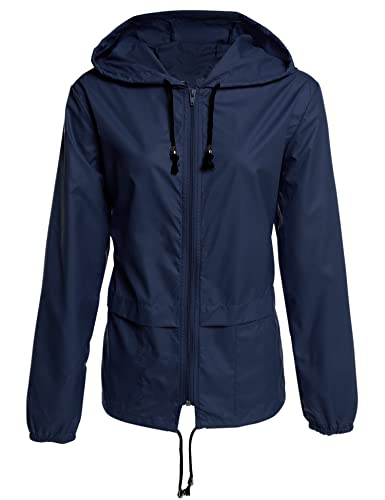 Tomasa Mujeres chaqueta deportiva ligero impermeable al aire libre Hoodie ciclismo Running Sport Jac...