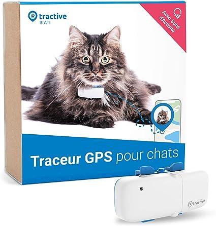 Dernier modèle Tractive traceur GPS pour chat pour tout collier avec suivi d'activité léger et étanche avec porté illimitée