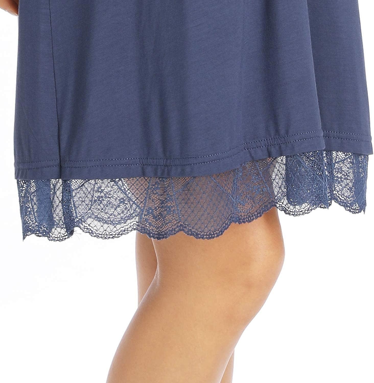 Ritera Womens Womens Maternity Nursing Nightdress Nightie V Neck Nursing Shirt Gown V Neck for Breastfeeding,S-XL