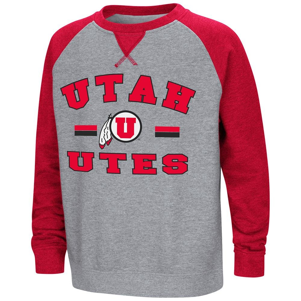 Colosseum Youth Utah Utesフリースクルーネックスウェットシャツ B07DWKRCWY  Large (16/18)