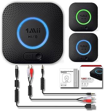 Receptor Bluetooth, Adaptador de Audio Inalámbrico Hi-Fi, 1Mii Adaptador Bluetooth 4.2 con 3D Surround aptX baja latencia para sonido en Streaming. Chip avanzado CRS Bluetooth 4.2 de última generación: Amazon.es: Electrónica
