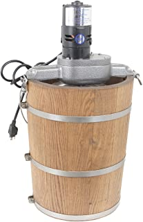 product image for 6 qt Country Ice Cream Maker - Classic Wooden Tub - Country Electric Motor