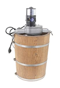 6 qt Country Ice Cream Maker - Classic Wooden Tub - Country Electric Motor