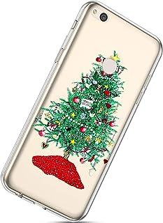 Herbests Coque Silicone pour Huawei Honor 8 Lite Housse avec Noël Motif Ultra Mince Clear Transparent Anti Choc Bumper Coque Case pour Huawei Honor 8 Lite,Noël #19 Noël #19 HER0028293