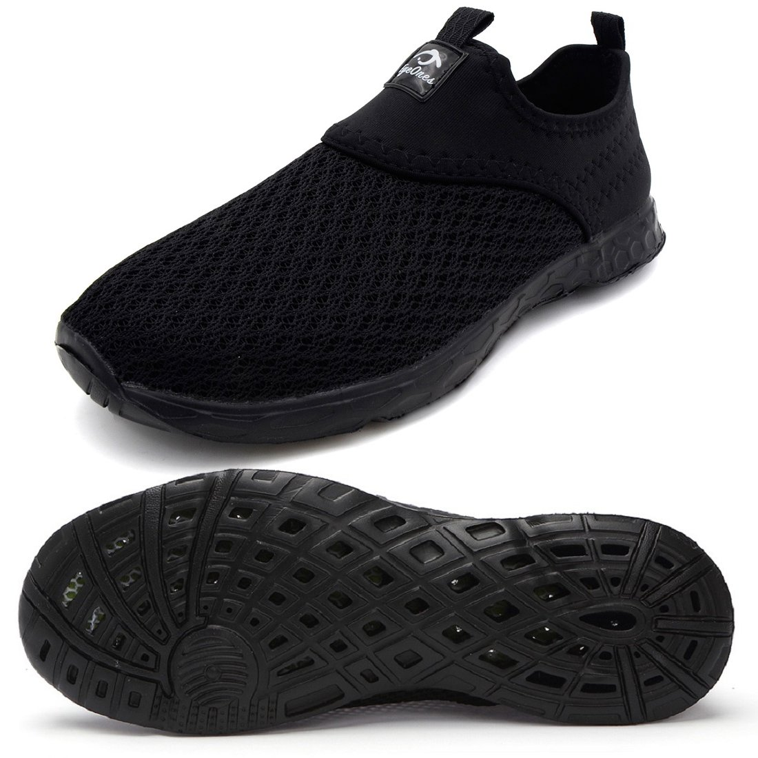 eyeones Men's Women's Lightweight Quick Drying Mesh Aqua Slip-on Water Shoes Perfect Match for Waterproof Phone Case