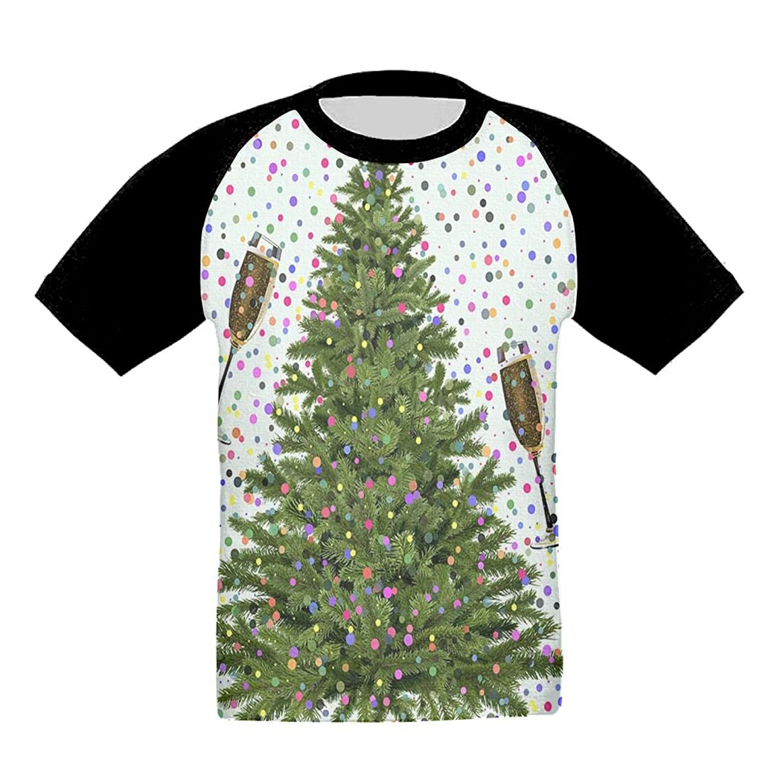Quzim Champagne Goblet Christmas Tree Cheers For New Year Jersey ...