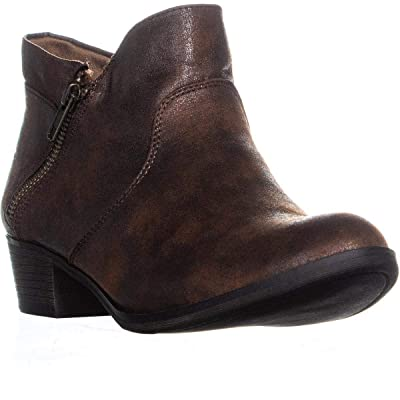 American Rag Womens Abby Almond Toe Ankle Fashion Boots, Chocolate, Size 7.0 | Ankle & Bootie