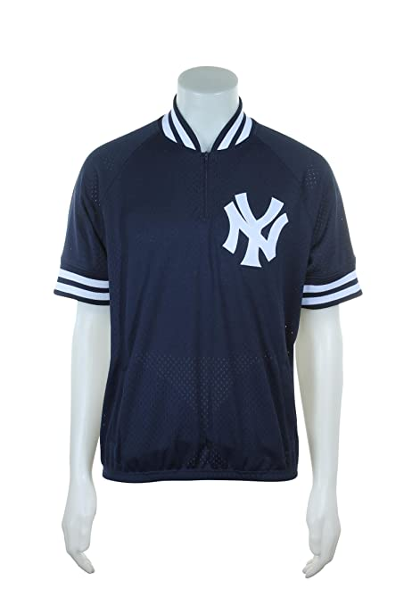 timeless design 31f28 41446 Mitchell & Ness New York Yankees MLB Men's Authentic 1/4 Zip Batting  Practice Jacket