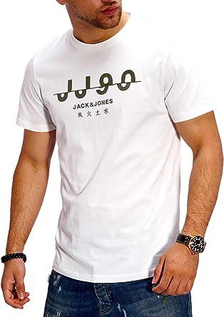 JACK & JONES Camiseta para Hombre T-Shirt Shirt Top Casual Imprésion Streetwear: Amazon.es: Ropa y accesorios