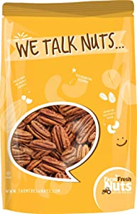 Whole, Shelled & Raw Georgia Pecans by Farm Fresh | 2 LB Bag of Southern Tastiness | Unsalted & Handpicked for Freshness | Perfect For Pecan Pie, Cookie, Praline, Butter Recipes & More