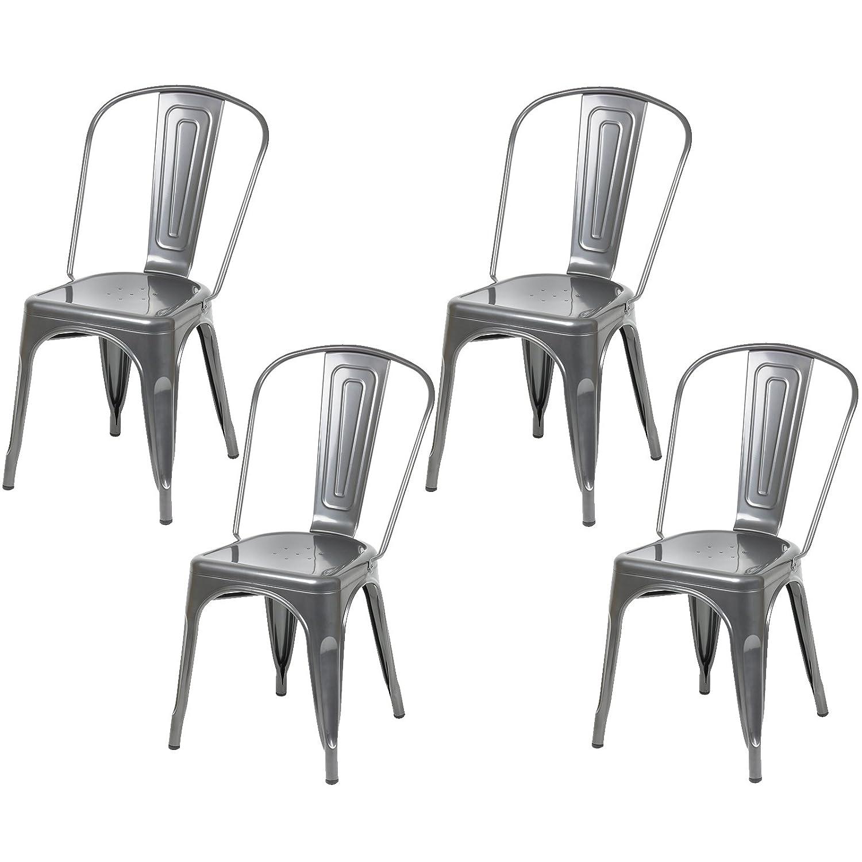 Hartleys Designer Cafe Bistro Chairs Black Set of 4 Amazon