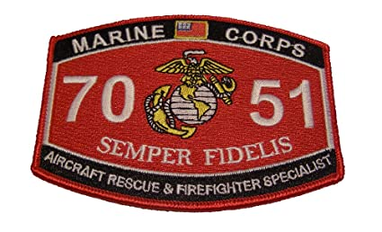 marine corps 7051 aircraft rescue and firefighter specialist cfr mos patch veteran owned