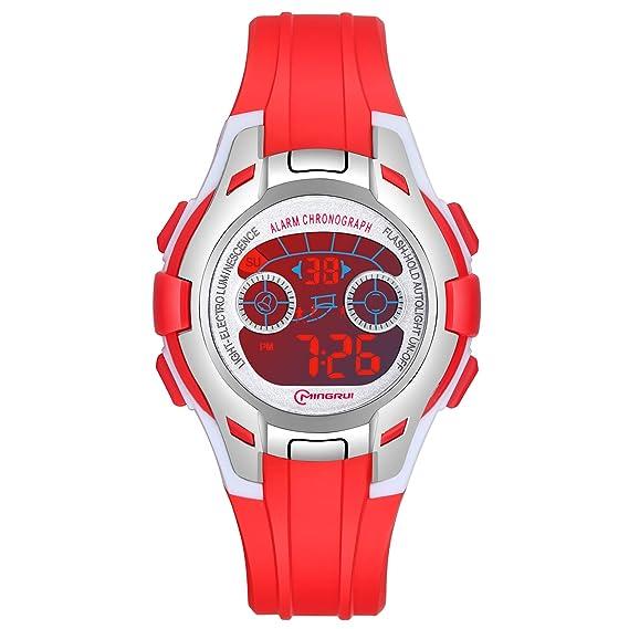 Reloj Niños Digital Deportivo con Pantalla 7 Colores Luz LED Relojes de Pulsera para Niñas Resistencia al Agua 30M Reloj Infantil Aprendizaje para ...