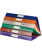 Q-Connect KF02488 2-Ring Binder A4 Frosted Assorted (Pack of 12)