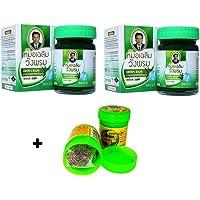 2x 50g Thai Green Balm Masaje Bálsamo vegetal