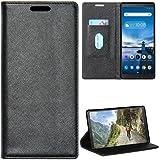 Zaoma Diary Type Pu Leather Flip Case Cover for Lenovo Tab V7 Model Number: ZA4L0020IN / ZA4L0052IN - (Executive Black)
