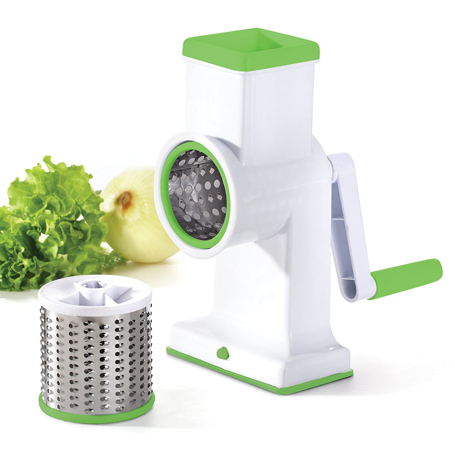 Kuuk Drum Grater for Cheese, Hash Browns, Coleslaw, Nuts, Salads, Chocolate and more NA