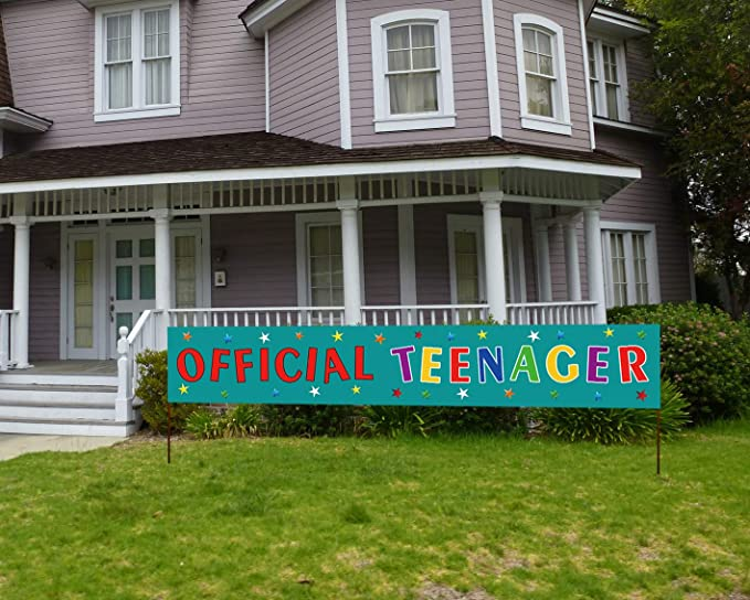 Keyboard 13th Birthday Banner x 2 Party Decorations Boys Girls Teenager ANY NAME
