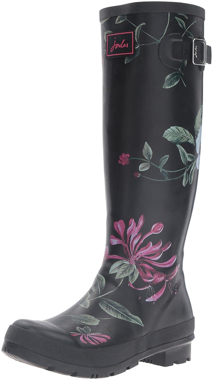 Joules Women's Welly Print Rain Boot B01F00CYIU 7 B(M) US Black Hedge