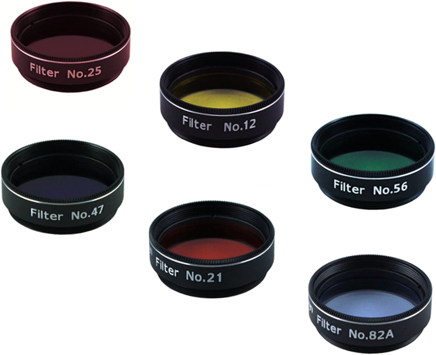 - Value Filter Pack Simply Screwed into The Thread on The Eyepiece 6 Pieces Astromania 1.25-Inch Color Filter Set